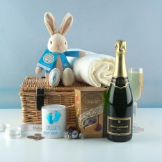Hampers and Gifts to the UK - Send the New Baby Boy Champagne Celebration