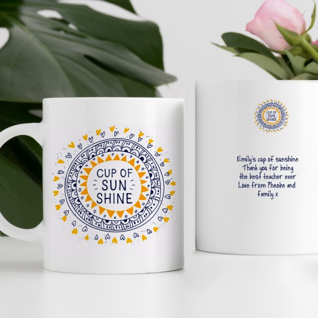 Hampers and Gifts to the UK - Send the Personalised Cup of Sunshine Mug