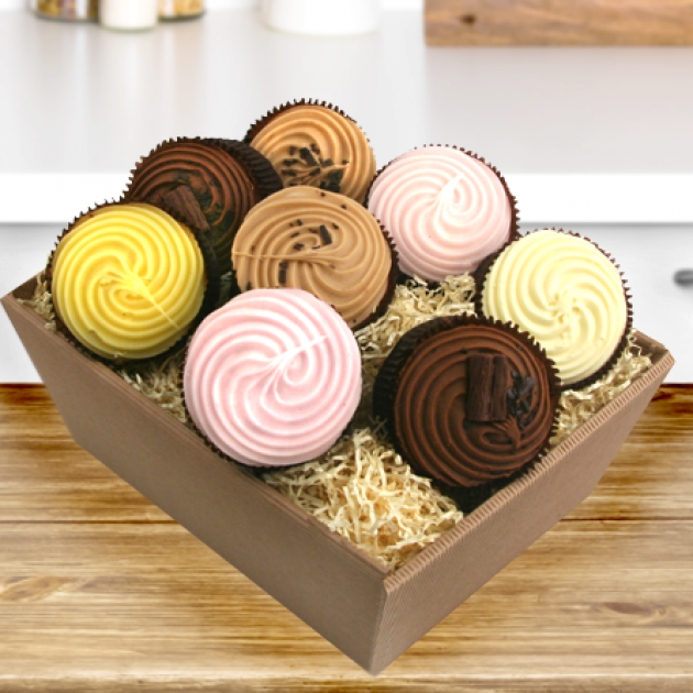 Hampers and Gifts to the UK - Send the Heavenly Cupcakes Assortment