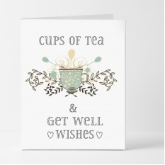 Hampers and Gifts to the UK - Send the Cups of Tea & Get Well Wishes Card