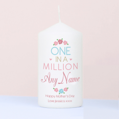Hampers and Gifts to the UK - Send the Personalised One In A Million Candle