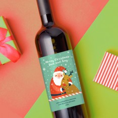 Hampers and Gifts to the UK - Send the Christmas Wine Gifts - Santa and Rudolph
