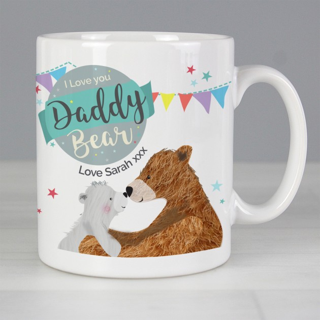 Hampers and Gifts to the UK - Send the Personalised Daddy Bear Mug