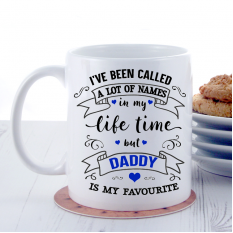 Hampers and Gifts to the UK - Send the My Favourite Any Name Gift Mug Blue