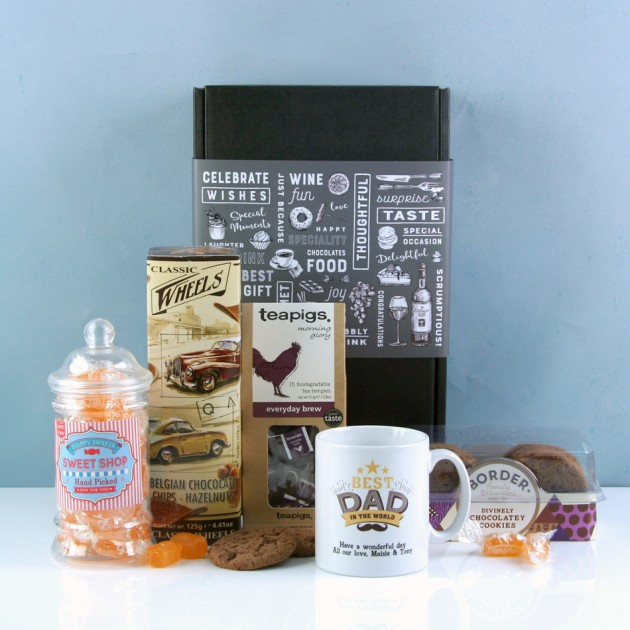 Hampers and Gifts to the UK - Send the Best Dad In the World Tea Hamper