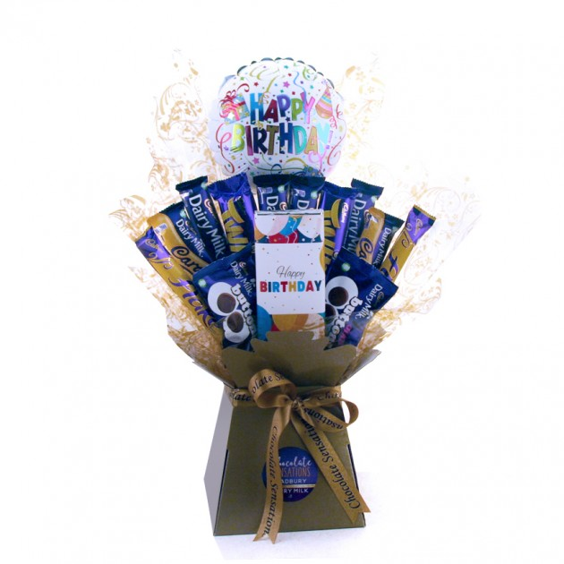 Hampers and Gifts to the UK - Send the Happy Birthday Dairy Milk Chocolate Bouquet