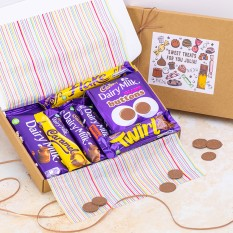 Hampers and Gifts to the UK - Send the Personalised Dairy Milk Chocolate Letterbox Gift