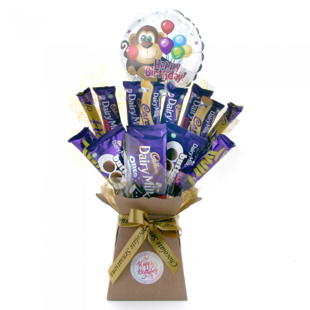 Hampers and Gifts to the UK - Send the Birthday Monkey Dairy Milk Chocolate Bouquet