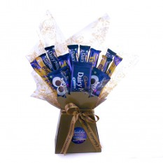 Hampers and Gifts to the UK - Send the Dairy Milk Chocolate Bouquet