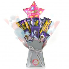 Hampers and Gifts to the UK - Send the Dairy Milk Thank You Star Chocolate Bouquet