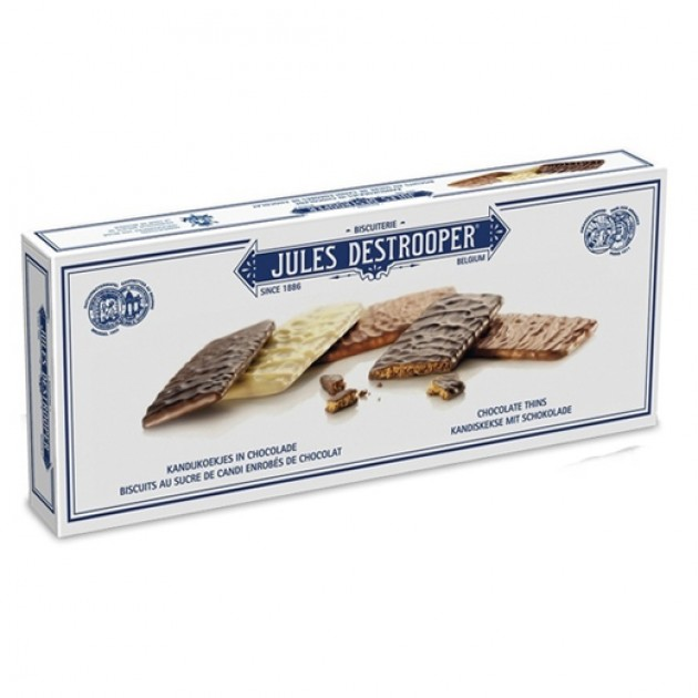 Hampers and Gifts to the UK - Send the Jules Destrooper Belgian Chocolate Thins