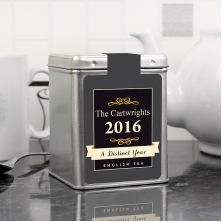 A Distinct Year Personalised Tin Tea Caddy