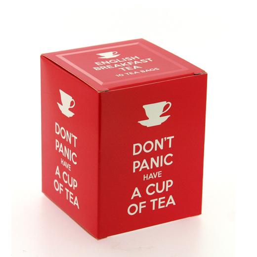 Hampers and Gifts to the UK - Send the New English Teas Don't Panic Tea