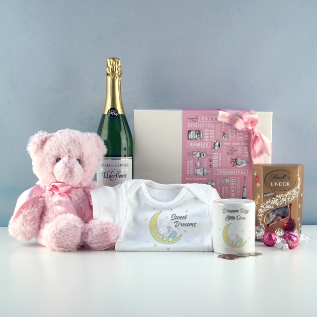 Hampers and Gifts to the UK - Send the Baby Girl Sweet Dreams Gift Set