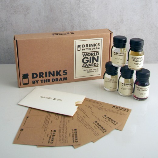 Hampers and Gifts to the UK - Send the Gin By the Dram - Gin Winners Tasting Set