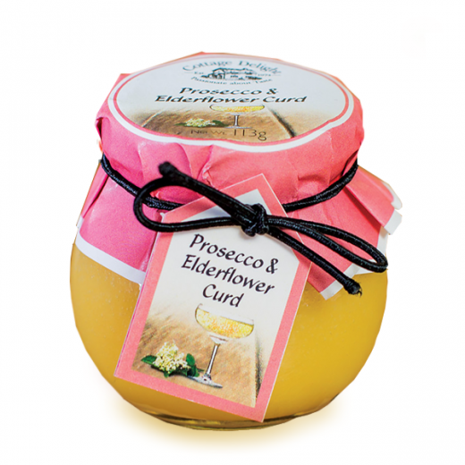 Hampers and Gifts to the UK - Send the Cottage Delight Prosecco and Elderflower Curd