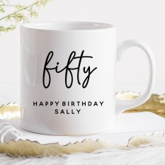 Hampers and Gifts to the UK - Send the Personalised Birthday Mug - Fifty
