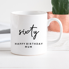 Hampers and Gifts to the UK - Send the Personalised Birthday Mug - Sixty