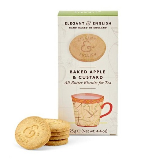 Hampers and Gifts to the UK - Send the Elegant English Biscuits - Baked Apple and Custard