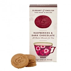 Hampers and Gifts to the UK - Send the Elegant English Biscuits -  Raspberries and Dark Chocolate