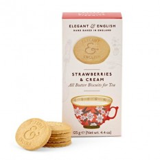 Hampers and Gifts to the UK - Send the Elegant English Biscuits - Strawberries and Cream