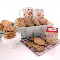 Hampers and Gifts to the UK - Send the Emoji Tea and Cookie Lover Gift Tray