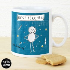 Hampers and Gifts to the UK - Send the Purple Ronnie Male Teacher Coffee Mug