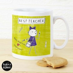 Hampers and Gifts to the UK - Send the Purple Ronnie Female Teacher Coffee Mug