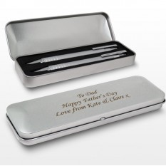 Hampers and Gifts to the UK - Send the Pen and Pencil Gift Set Personalised