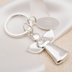 Hampers and Gifts to the UK - Send the Engraved Angel Keyring