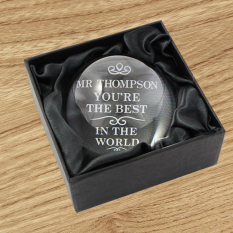 Hampers and Gifts to the UK - Send the Personalised Paperweight - The Best in the World