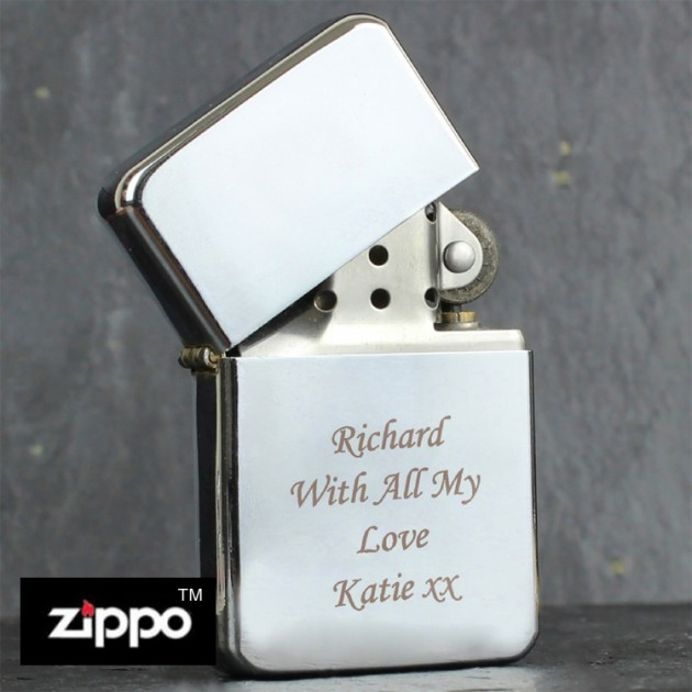 Hampers and Gifts to the UK - Send the Engraved Chrome Zippo Lighter
