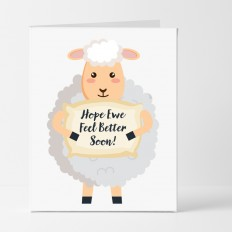 Hampers and Gifts to the UK - Send the Hope Ewe Feel Better Soon Card