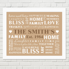 Hampers and Gifts to the UK - Send the Family Framed Wall Art
