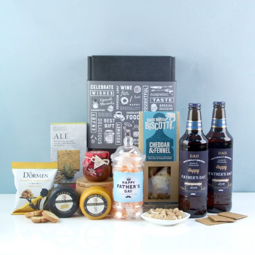 Hampers and Gifts to the UK - Send the Happy Father's Day Beer & Savouries Hamper