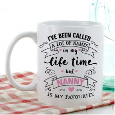 Hampers and Gifts to the UK - Send the My Favourite Any Name Gift Mug Pink