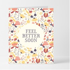 Hampers and Gifts to the UK - Send the Feel Better Soon Floral Card
