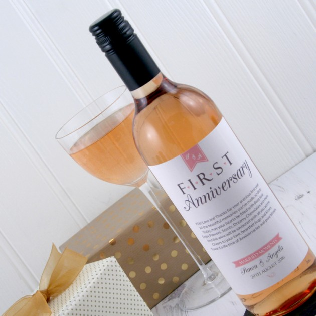 Hampers and Gifts to the UK - Send the First Wedding Anniversary Wine Gift