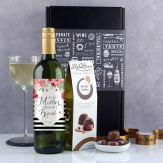 Hampers and Gifts to the UK - Send the Forever My Friend Wine and Chocolates