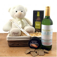 Hampers and Gifts to the UK - Send the My First Teddy Gift Basket
