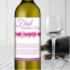 Hampers and Gifts to the UK - Send the First Valentine's Wine Gift Personalised