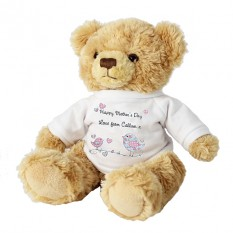 Hampers and Gifts to the UK - Send the Personalised Teddy Bear Floral Bird