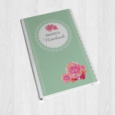 Any Name Vintage Floral Hardback A5 Notebook