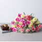 Hampers and Gifts to the UK - Send the Birthday Flower Bouquet with Chocolate Cake