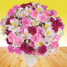 Hampers and Gifts to the UK - Send the Shimmering Pinks Flowers