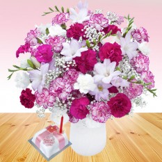 Hampers and Gifts to the UK - Send the Birthday Purple Crush Flowers