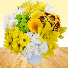 Hampers and Gifts to the UK - Send the Lemon Drizzle Flowers