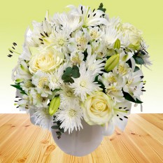 Hampers and Gifts to the UK - Send the Sweet Sentiments Flower Bouquet