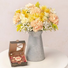 Hampers and Gifts to the UK - Send the Birthday Bouquet with Chocolate Pizza