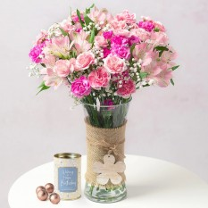Hampers and Gifts to the UK - Send the Birthday Bouquet with Chocolate Truffles